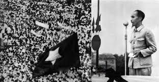 Ngày 2/9/1945 Chủ tịch Hồ Chí Minh đọc Bản tuyên ngôn Độc lập khai sinh ra nước Việt Nam Dân chủ Cộng hoà