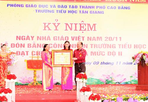 Tỉnh Cao Bằng được Bộ GD&ĐT công nhận đạt chuẩn phổ cập giáo dục mầm non cho trẻ 5 tuổi vào tháng 12/2015  với 190/199 xã đạt chuẩn.