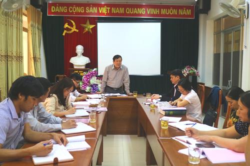 Đ/c Hoàng Giang, Giám đốc Sở KH&CN, Chủ tịch Hội đồng kết luận cuộc họp.