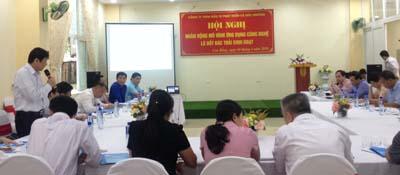 Đồng chí Nông Hồng Môn - Phó Giám đốc Sở KH&CN Cao Bằng phát biểu tại Hội nghị.