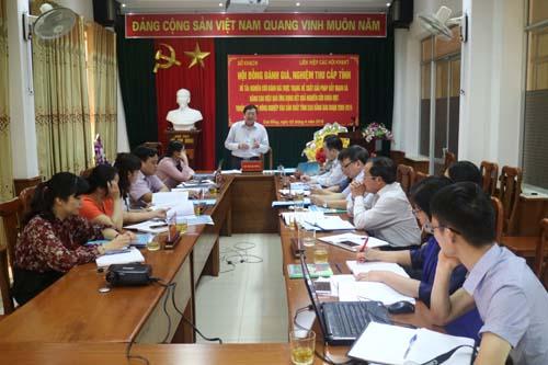 Đồng chí Hoàng Giang - Giám đốc Sở KH&CN chủ trì cuộc họp Hội đồng nghiệm thu đề tài.