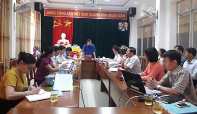 Đồng chí Hoàng Giang - Phó Chủ tịch Hội đồng Khoa học và Sáng kiến tỉnh, Giám đốc Sở KH&CN chủ trì cuộc họp.