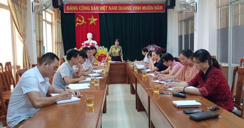Đồng chí Vũ Thị Hồng Thúy - Phó Giám đốc Sở, Chủ tịch Công đoàn cơ sở Sở KH&CN chủ trì Hội nghị.