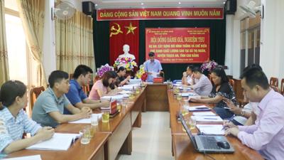 Đồng chí Đoàn Hải Triều - Phó giám đốc Sở, Chủ tịch Hội đồng, chủ trì cuộc họp.