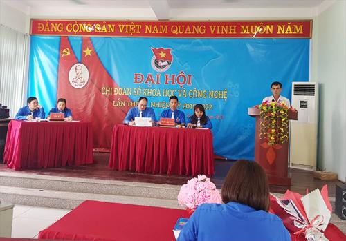 Đồng chí Đoàn Hải Triều - Phó Bí thư Đảng ủy, Phó Giám đốc Sở KH&CN phát biểu chỉ đạo Đại hội.