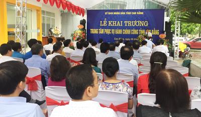 Khai trương Trung tâm Phục vụ hành chính công tỉnh Cao Bằng.