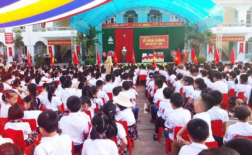 Lễ khai giảng năm học 2019-2020 tại trường Tiểu học Ngọc Xuân