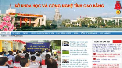 Trang thông tin điện tử tổng hợp khcncaobang.gov.vn.