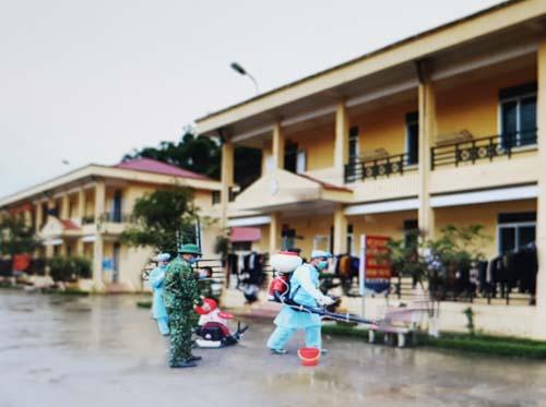 Khu vực cách ly công dân Việt Nam từ Trung Quốc trở về ở xã Ngũ Lão, huyện Hòa An