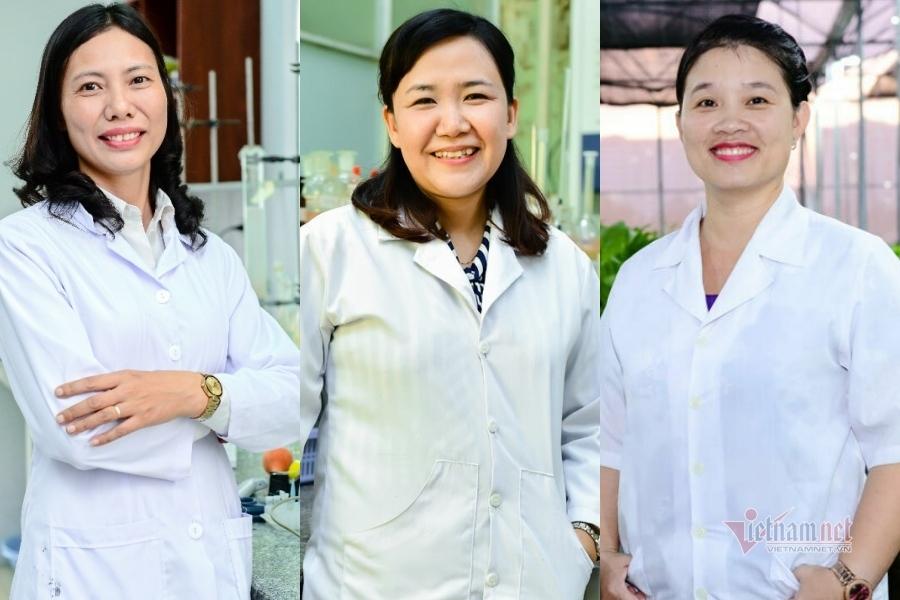 3 nhà khoa học nữ Việt Nam lọt top 100 nhà khoa học châu Á 2020 là TS. Trần Thị Hồng Hạnh, PGS.TS Hồ Thị Thanh Vân, TS. Phạm Thị Thu Hà (từ trái qua phải)