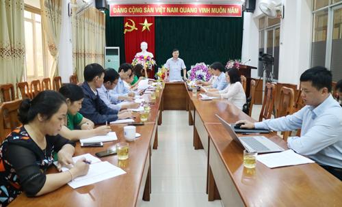 Đ/c Bế Đăng Khoa - Giám đốc Sở KH&CN chủ trì cuộc họp