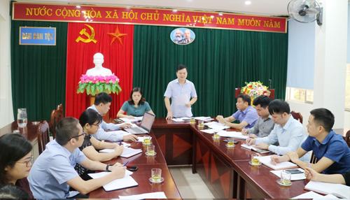 Đồng chí Bế Đăng Khoa - Giám đốc Sở Khoa học và Công nghệ, Phó Trưởng Ban chỉ đạo ISO tỉnh Cao Bằng, Trưởng đoàn kiểm tra phát biểu tại buổi làm việc